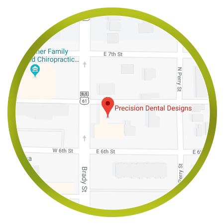 map of precision dental designs